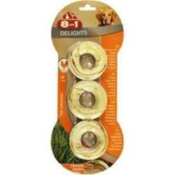 8 ın 1 - 8 İn 1 Delights Bones Köpekler İçin Ağız Bakım Kemiği Halka 3 Adet