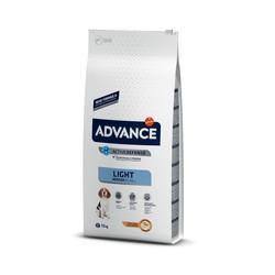 Advance - Advance Light Medium Orta Irk Köpekler İçin Light Mama 12 Kg. (1)