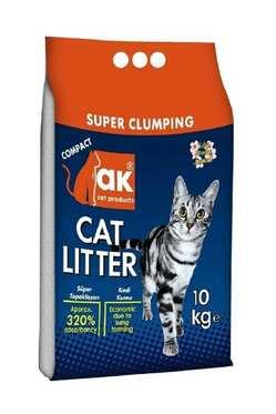 Akkum - Akkum İnce Taneli Topaklaşan Kedi Kumu 10 Kg