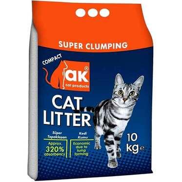 Akkum - Akkum Kalın Taneli Topaklaşan Kedi Kumu 10 Kg