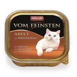 Animonda - Animonda Vom Feinsten Tavuklu Ve Ciğerli Kedi Konserve Maması 100 Gr.