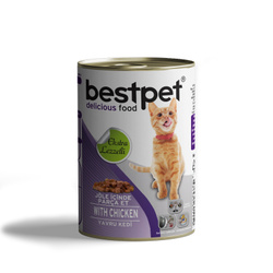 Best Pet - Bestpet Parça Tavuk Etli Soslu Yavru Kedi Konservesi 415 Gr. (1)