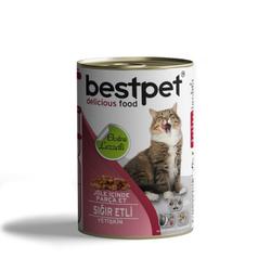 Best Pet - Bestpet Soslu Parça Etli Kuzu Etli Konserve Yetişkin Kedi Maması 415 Gr.