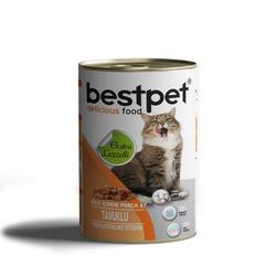 Best Pet - Bestpet Soslu Parça Tavuk Etli Konserve Yetişkin Kedi Maması 415 Gr. (1)