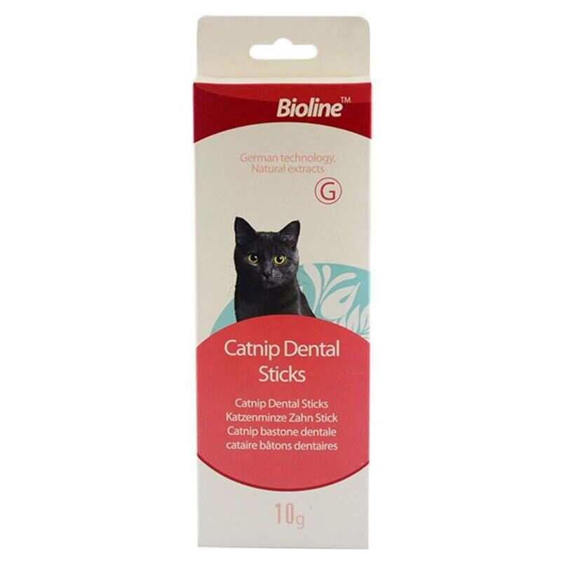 Bioline - Bioline Tartar Önleyici Dental Kedi Ağız Bakım Çubukları (5 Parça)