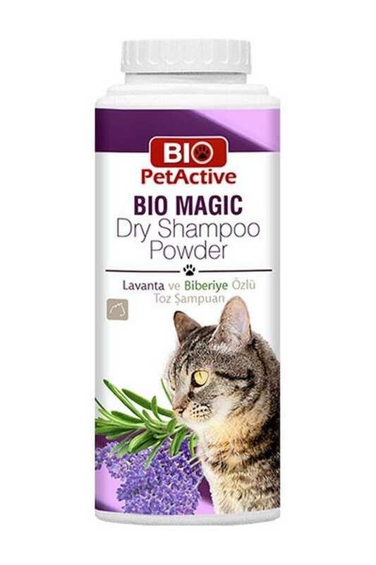 Bio Pet Active - BioPetActive Bio Magic Dry Shampoo Powder - Kedi Toz Şampuan 150 Gr.