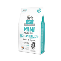 Brit Care - Brit Care Tahılsız Mini Light Sterillised Tavşanlı Köpek Maması 2 Kg. (1)