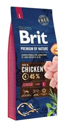 Brit Premium - Brit Premium By Nature Junior L Büyük Irk Tavuklu Yavru Köpek Maması 15 Kg.