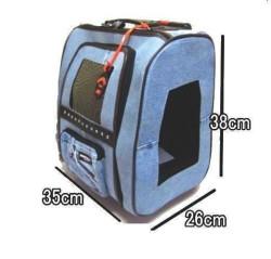Doggy Dolly - Doggy Dolly Tekerlekli Köpek Kedi Taşıma Çantası Kot 36 Cm (1)