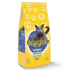Econature - Econature Balıklı Yetişkin Kedi Maması 15 Kg.