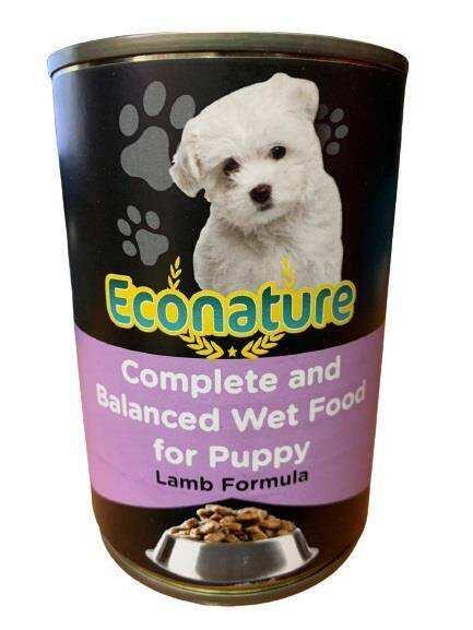 Econature - Econature Puppy Lamb Kuzu Etli Yavru Köpek Konservesi 400 Gr