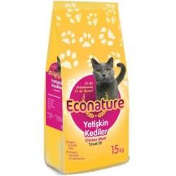 Econature - Econature Yetişkin Tavuklu Kuru Kedi Maması 15 Kg.