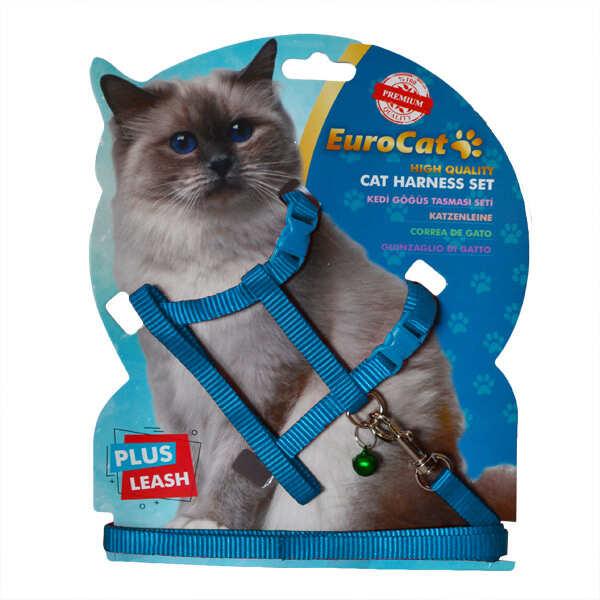 EUROCAT - EuroCat Kedi Göğüs Tasması Açık Mavi