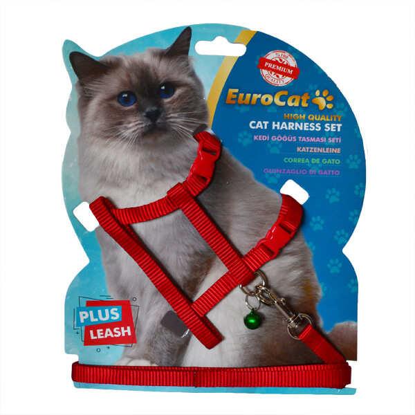 EUROCAT - EuroCat Kedi Göğüs Tasması Kırmızı