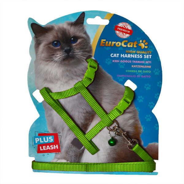 EUROCAT - EuroCat Kedi Göğüs Tasması Yeşil