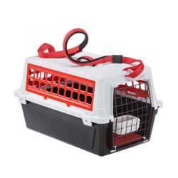 Ferplast - Ferplast Atlas Trendy Open 10 Kedi Köpek Taşıma Kabı 48 X 32,5 X 29 Cm Kırmızı