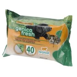 Ferplast - Ferplast Genico Fresh Yeşil Çaylı Kedi Köpek Temizlik Mendili