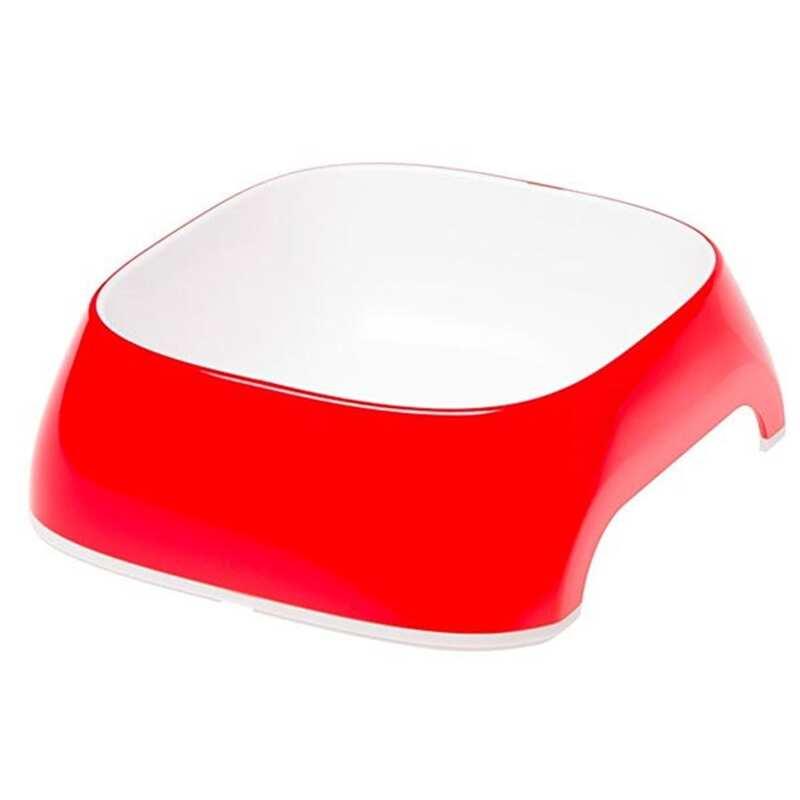 Ferplast - Ferplast Glam Medium Melamin Mama Kabı Kırmızı 720 Ml.