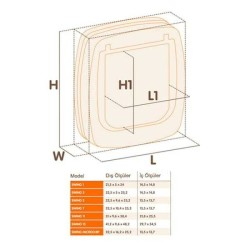 Ferplast - Ferplast Swing 5 Beyaz Kedi Köpek Kapısı 13,5 X 13,7 Cm (1)