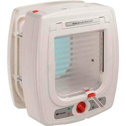 Ferplast - Ferplast Swing Microchip White Mikroçipli Beyaz Kedi Köpek Kapısı