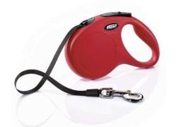 Flexi - Flexi New Classic Otomatik Kırmızı Şerit Gezdirme Medium 5 Mt (1)