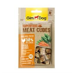 GimDog - Gimdog Meatcubes Havuçlu Ve Ispanaklı Tavuk Köpek Ödülü 40Gr
