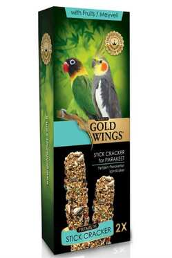Gold Wings - Gold Wings Premium Meyveli Paraket Krakeri 2li