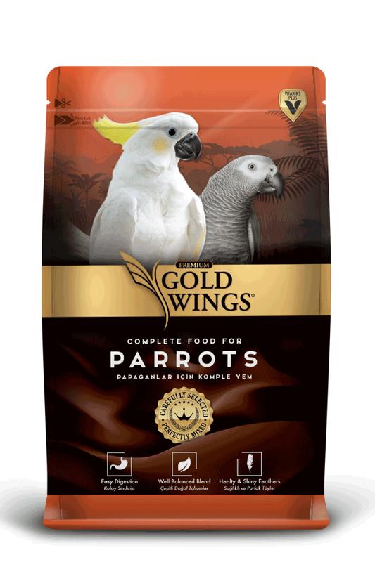 Gold Wings - Gold Wings Premium Papağan 1 Kg.