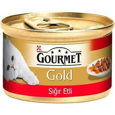 Pro Plan - Gourmet Gold Parça Sığır Etli Kedi Konservesi 85 Gr.