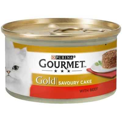 Gourmet Gold Savoury Cake Sığır Etli Domatesli Kedi Konservesi 85 Gr.