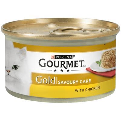 Gourmet Gold Savoury Cake Tavuklu Havuçlu Kedi Konservesi 85 Gr.