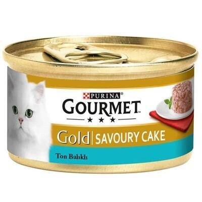 Gourmet Gold Savoury Cake Ton Balıklı Kedi Konservesi 85 Gr