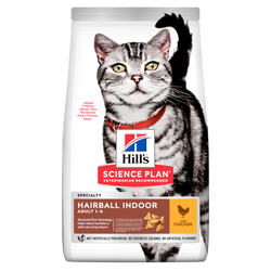 Hills - Hills Adult Hairball&Indoor Tavuklu Tüy Yumağı İçin Yetişkin Kedi Maması 1,5 Kg.