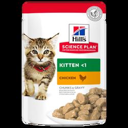 Hills - Hills Kitten Tavuklu Yavru Kedi Konserve Maması 85 Gr.