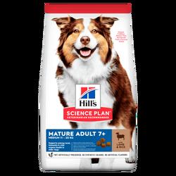 Hills - Hills Science Plan Mature +7 Tüm Irklar İçin Kuzu Etli Pirinçli Yaşlı Köpek Maması 2.5 Kg.