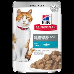 Hills Young Adult Alabalıklı Kısırlaştırılmış Kedi Yaş Maması 85 Gr. - Thumbnail
