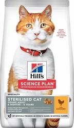 Hills - Hills Young Adult Sterilised Tavuklu Kısırlaştırılmış Kedi Maması 10 Kg.