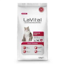LaVital - Lavital Cat Senior Adult Yaşlı Kediler İçin Mama 1,5 Kg.
