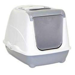 Moderna - Moderna Flip Kapalı Kedi Tuvalet Kabı 57 Cm Gri