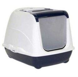 Moderna - Moderna Flip Kapalı Kedi Tuvalet Kabı 57 Cm Lacivert