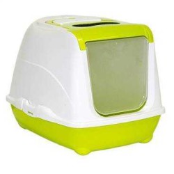 Moderna - Moderna Flip Kapalı Kedi Tuvalet Kabı 58 Cm Yeşil