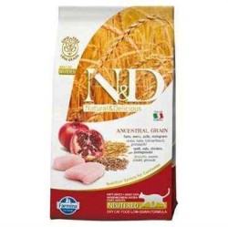 N&D L.GRAIN - N&D A.Graın Düşük Tahıllı Tavuk Ve Narlı Kısır Kedi Maması 1,5 Kg.
