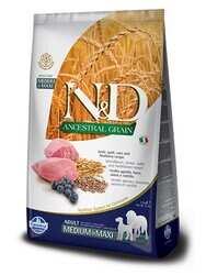 N&D PRIME - N&D Düşük Tahıllı Kuzu Etli Orta Ve Büyük Irk Yetişkin Köpek Maması 12 Kg. (1)