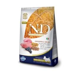 N&D L.GRAIN - N&D Düşük Tahıllı Kuzu Yaban Mersini Küçük Irk Yetişkin Köpek Maması 2,5 Kg.