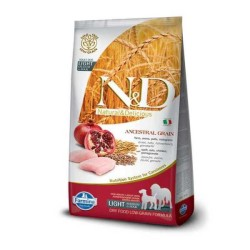 N&D L.GRAIN - N&D Düşük Tahıllı Light Maxi Tavuklu Narlı Yetişkin Köpek Maması 12 Kg.