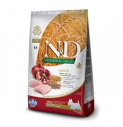 N&D L.GRAIN - N&D Düşük Tahıllı Light Mini Tavuklu Narlı Köpek Maması 2,5 Kg.