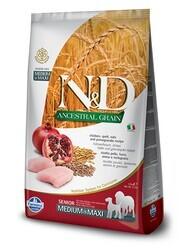 N&D L.GRAIN - N&D Düşük Tahıllı Senior Tavuklu Orta Ve Büyük Irk Yaşlı Köpek Maması 2.5 Kg. (1)