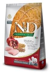 N&D L.GRAIN - N&D Düşük Tahıllı Tavuklu Orta Ve Büyük Irk Yetişkin Köpek Maması 2.5 Kg. (1)