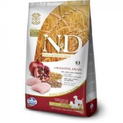 N&D L.GRAIN - N&D Düşük Tahıllı Senior Tavuk Ve Narlı Yaşlı Köpek Maması 12 Kg.