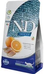 N&D OCEAN - N&D Ocean Tahılsız Ocean Ringa Balığı Ve Portakallı Yetişkin Kedi Maması 1,5 Kg. (1)